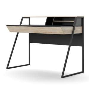 Salcombe Wooden Desk In Oak And Black