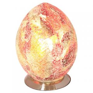 Mosaic Red Egg Lamp