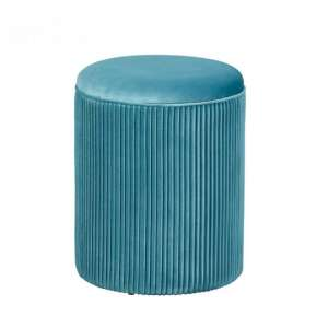 Salim Fabric Storage Ottoman Stool In Blue