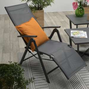 Salosta Reclining Relax Armchair In Carbon Black