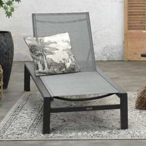 Saltake Sun Lounger In Carbon Black