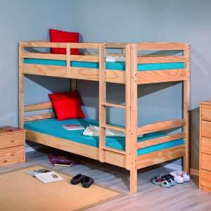 Salvador Wooden Bunk Bed In Natural Oak