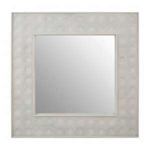 Santeria Square Wall Bedroom Mirror In Weathered White Frame