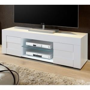 Santino TV Stand In White High Gloss With 2 Doors