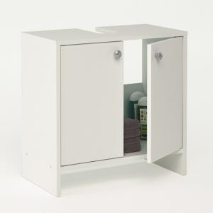 Santos Bathroom Vanity Cabinet In White With 2 Doors