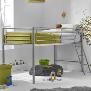 Saturn Metal Mid Sleeper Bunk Bed In Silver