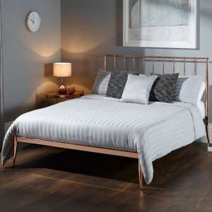 Saturn Precious Metal King Size Bed In Rose Gold