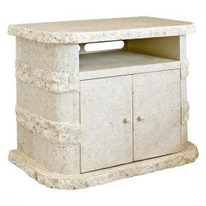 Sawyer TV Stand In Mactan Stone With 2 Doors And Shelf