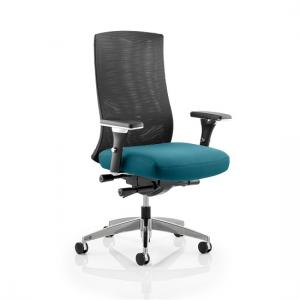 Scarlet Home Office Chair In Kingfisher With Castors
