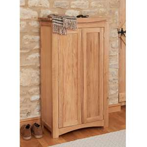 Seldon Contemporary Shoe Storage Cupboard In Oak With 2 Doors
