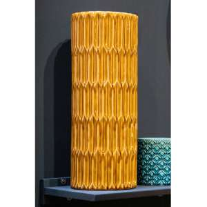 Senile Ceramic Lustre Umbrella Stand In Mustard