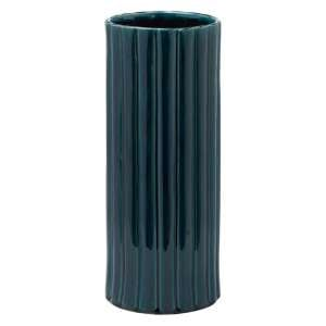 Senile Ceramic Phoenix Umbrella Stand In Dark Teal
