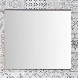 Seon Wall Bathroom Mirror In Smoky Silver