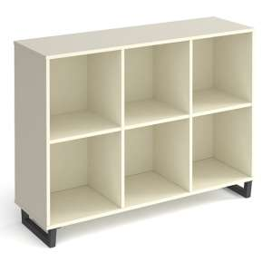 Sevan Low Wooden Shelving Unit In White With 3 Shelves