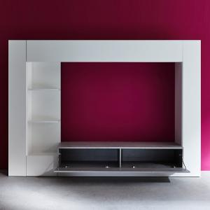 Santiago Entertainment Unit In White And Concrete With LED_2