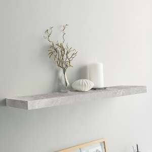 Shelvza Large Wooden Wall Shelf In Structured Concrete