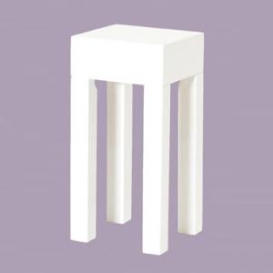 Linea Square Side Table In High Gloss White
