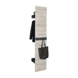 Shirley Wall Mounted Coat Rack In Sand Oak And Anthracite