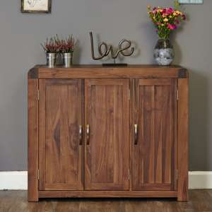 Shiva Large Wooden Shoe Storage Cabinet In Walnut