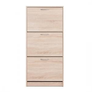 Montrose Shoe Cabinet In Sonoma Oak With 3 Doors