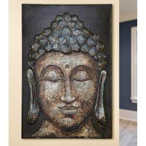 Siddhartha Picture Metal Wall Art In Grey