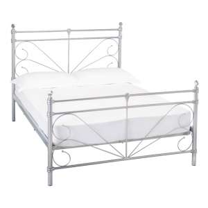 Sienna Metal Double Bed In Silver