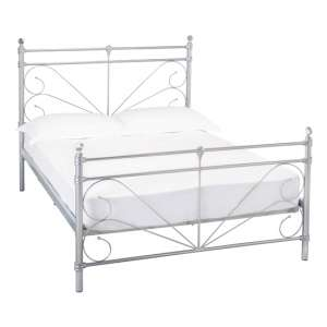 Sienna Metal King Size Bed In Silver