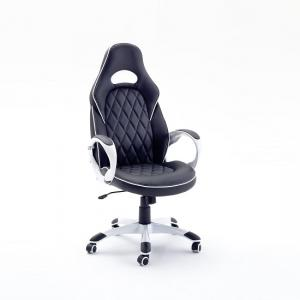 Silvia Home Office Chair In Black Faux Leather