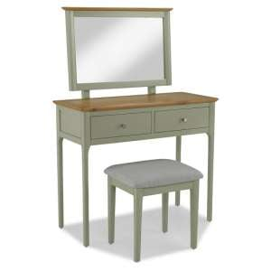 Simona Wooden Dressing Table Set In Sage Green