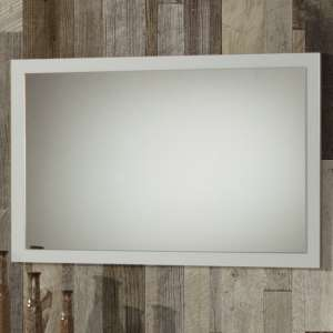Simona Wall Mirror In White High Gloss Wooden Frame