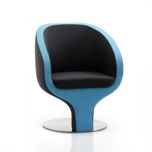 Simpson Visitor Office Chair In Black And Blue Fabric