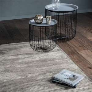 Sipeen Viscose And Polyster Fabric Rug In Ash