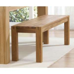 Skat Wooden Dining Bench In Oak