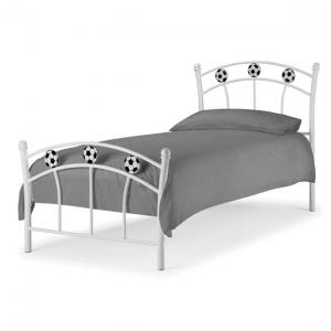 White Metal Soccer Bed