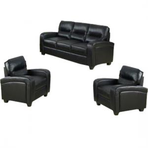Bonded Leather Sofa - 3+1+1