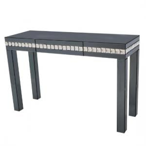 Solano Modern Smoke Glass Console Table With Drawer