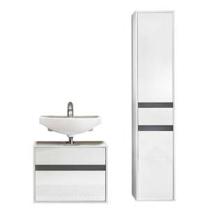 Solet Bathroom Furniture Set 14 In White High Gloss