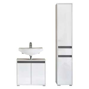 Solet Bathroom Furniture Set 6 In White High Gloss
