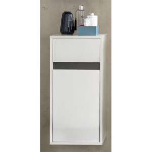 Solet Bathroom Wall Hung Storage Cabinet In White Gloss