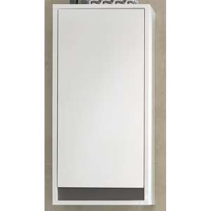 Solet Bathroom Wall Storage Cabinet In White High Gloss