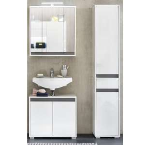 Solet LED Bathroom Furniture Set 7 In White High Gloss
