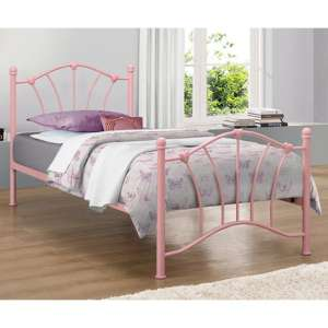 Sophia Steel Single Bed In Pink