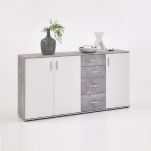 Sophia Wooden Large Sideboard In Light Atelier And White_1