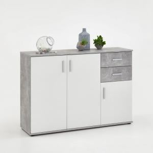 Sophia Wooden Sideboard In Light Atelier And White