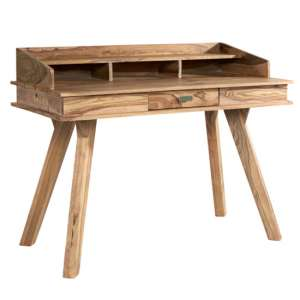 Spica Wooden Study Desk In Natural Sheesham