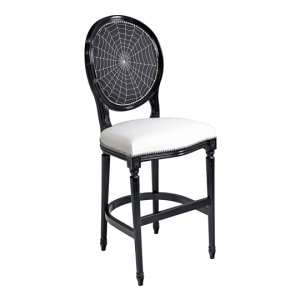 Spiders Web Georgian Short Bar Stool In Black