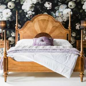Spire Mindy Ash Wooden Super King Size Bed In Walnut