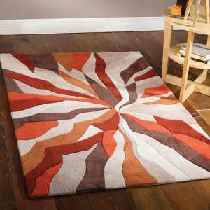 Infinite Splinter Orange Rug