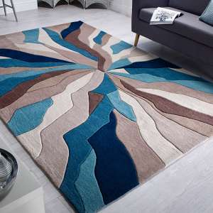 Infinite Splinter Teal Rug
