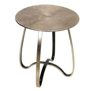 Split Aluminium Small Side Table In Champagne